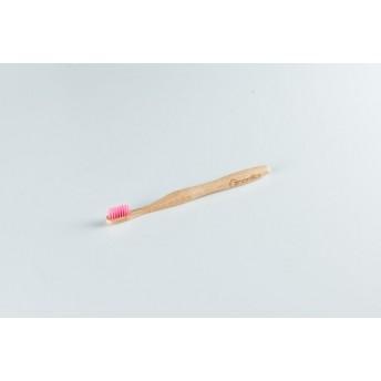 Periuta de Dinti din Bambus, Peri Roz