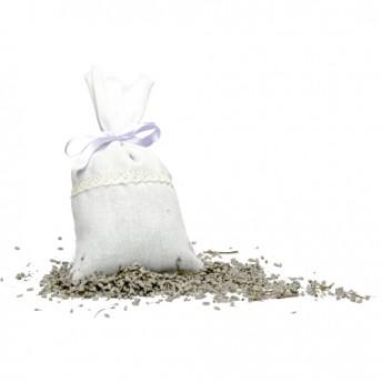 Saculet alb cu flori de lavanda 35 g