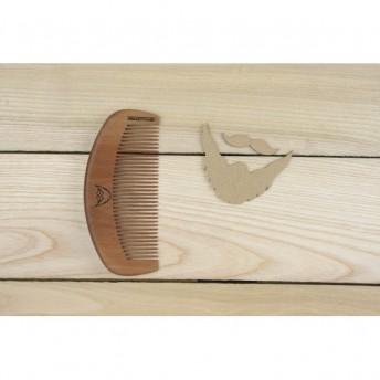 Pieptene des barba si par, lemn de Nanmu