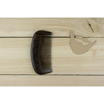 Pieptene des barba si par, lemn de SANTAL NEGRU