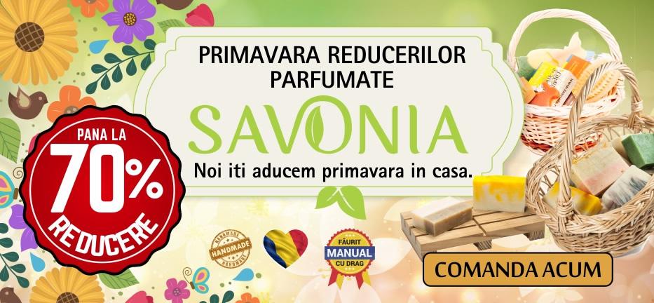 Primavara reducerilor parfumate - Reduceri de pana la 70% - Savonia