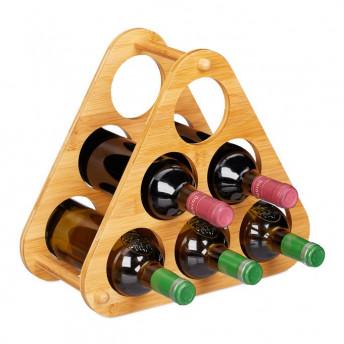 Suport din Bambus pentru Sticle de Vin, 31 x 34.5 cm