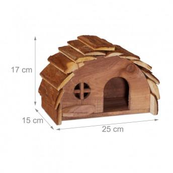 Casuta pentru Hamsteri, Soricei sau Veverite, 17 x 25 x 15 cm