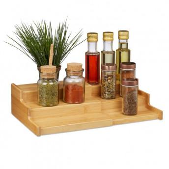 Suport pentru Condimente din Bambus, 38 x 22 cm