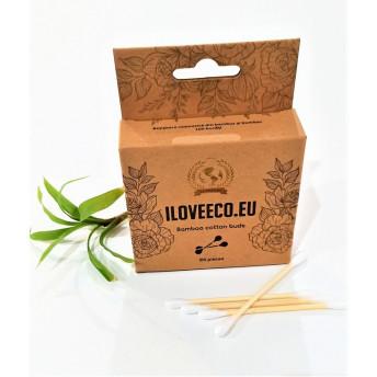 Betisoare cosmetice din bambus si bumbac - 100 bucati