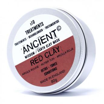 Masca tratament Detox, din argila rosie, 80g, Ancient Wisdom