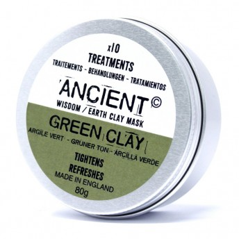 Masca tratament Refresh, din argila verde, 80g, Ancient Wisdom