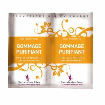 Exfoliant facial purifiant, cu miere si banana pt. ten sensibil, Secrets des Fees, 2x4g
