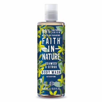 Gel de dus si spuma de baie cu alge marine si citrice, Faith in Nature, 400 ml