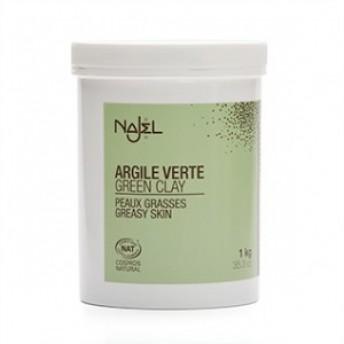 Argila verde fina pentru ten mixt sau gras, 1 kg - NAJEL