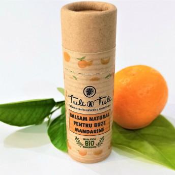Balsam Natural pentru Buze cu Mandarine, 15 ml, Tuli a Tuli