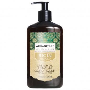 Balsam fara clatire ultra-hidratant cu ulei de ricin pentru toate tipurile de par, Arganicare, 400 ml