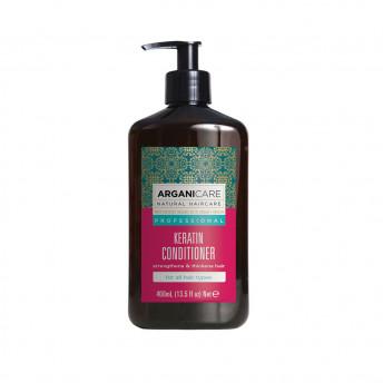 Balsam fortifiant si nutritiv cu Keratina, pentru par deteriorat, tratat chimic si termic, Arganicare, 400 ml