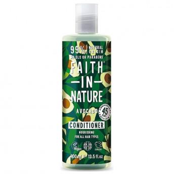 Balsam natural hidratant cu Avocado, pentru toate tipurile de par, Faith in Nature, 400ml