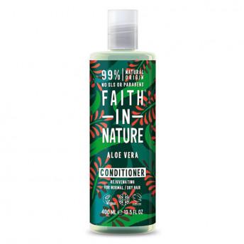 Balsam natural nutritiv cu Aloe Vera pentru par normal si uscat, Faith in Nature, 400ml