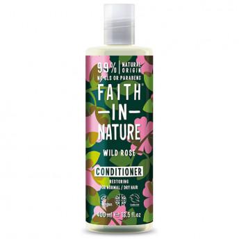 Balsam natural reparator cu Trandafir salbatic, pentru toate tipurile de par, Faith in nature, 400ml