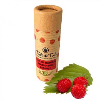 Balsam Natural pentru Buze cu Fragute, 15 ml, Tuli a Tuli