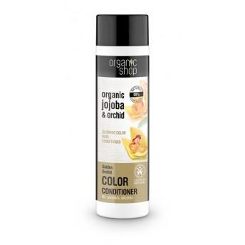 Balsam de par protectia culorii cu orhidee si jojoba Golden Orchid, 280 ml - Organic Shop