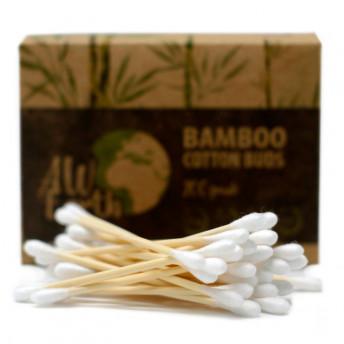 Betisoare pentru Urechi, Bambus si Bumbac, Natur, 200 buc