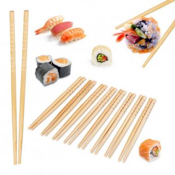 Bete Sushi Chinezesti, 10 Perechi, Bambus cu Design