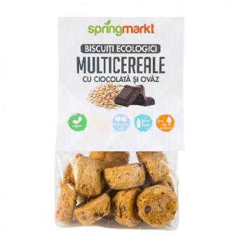 Biscuiti Multicereale cu Ciocolata si Ovaz 100gr BIO