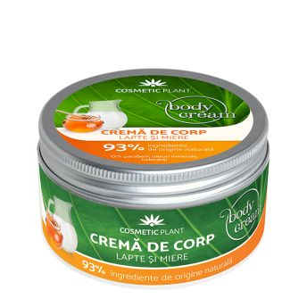 Crema corp cu Lapte si Miere, 200 ml, Cosmetic Plant