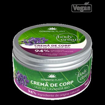 Crema corp cu Ulei de Lavanda, 200 ml, Cosmetic Plant