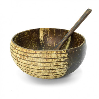 Bol din Nuca de Cocos - model Striped