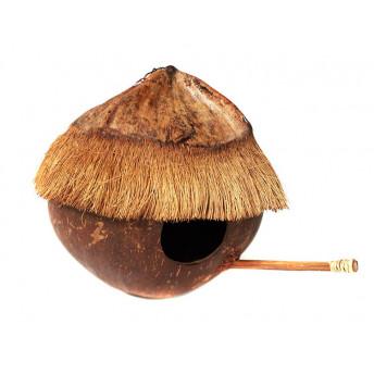 Casuta din Nuca de Cocos pentru Pasari, 18 cm