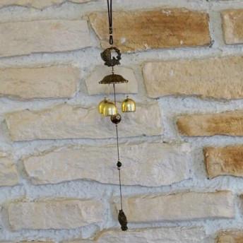 Clopotei de vant din metal cu 3 ramuri, Crap - 50cm