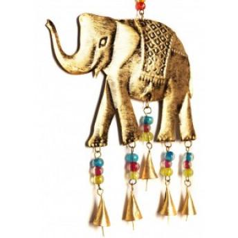 Clopotei de Vant Elefant, Metalic, 44 cm