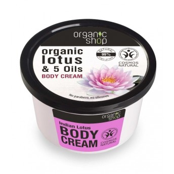 Crema de corp delicioasa Indian Lotus, 250 ml - Organic Shop
