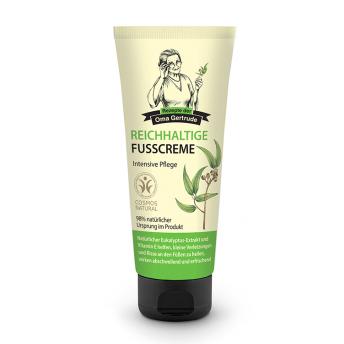 Crema de picioare intensiva cu eucalipt si vitamina E, 75 ml - Oma Gertrude