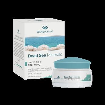 Crema de zi anti-aging cu minerale de la Marea Moarta, 50 ml, Cosmetic Plant