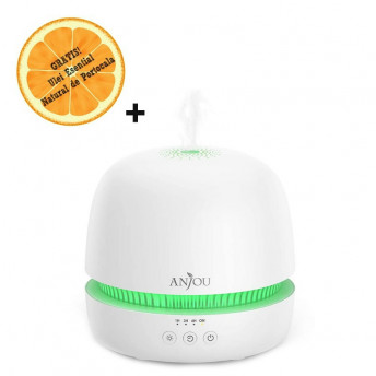 Difuzor aromaterapie Anjou AJ-ADA019, 300ml, LED 7 culori + Ulei Esential Natural de Portocala