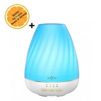 Difuzor aromaterapie cu Ultrasunete Anjou ADA003, 200ml, 13W, LED 7 culori + Ulei Esential Natural de Portocala