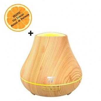 Difuzor aromaterapie cu Ultrasunete TaoTronics TT-AD004, 400ml, 13W, LED 7 culori + Ulei Esential Natural de Portocala