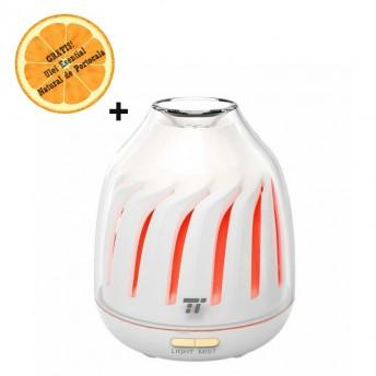 Difuzor aromaterapie cu Ultrasunete TaoTronics TT-AD007, 120ml, LED 5 culori + Ulei Esential Natural de Portocala