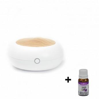 Difuzor Aromaterapie Savonia Alb Norvegian, 70 ml - cu USB + Ulei Lavanda