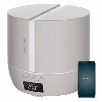 Difuzor aroma cu Ultrasunete Smart Cecotec PureAroma 550 Connected, control din Smartphone, 7 culori LED, boxa incorporata - Gri