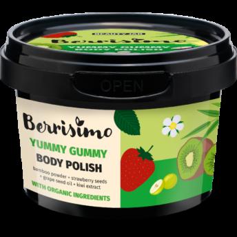 Exfoliant corporal cu pudra de bambus si seminte de capsuni, Berrisimo, Beauty Jar, 270 g