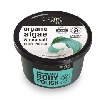 Exfoliant de corp polish cu sare marina si alge Atlantic Algae, 250 ml - Organic Shop