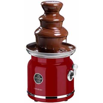 Fantana de ciocolata, Cecotec Fun Chocolicious, 90W, design retro,3 niveluri, Capacitate 700ml, Inox