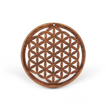 Amuleta din lemn - The Flower of Life, Maro