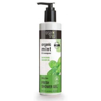 Gel de dus bio cu menta si lemongrass, Minty Rain, 280 ml - Organic Shop