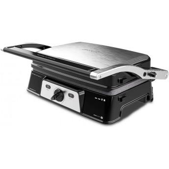 Grill 2 in 1, Rock'nGrill, Cecotec 1500 Take&Clean, 1500W, regulator de putere, piatra antiaderenta, gratar electric si aparat de facut sandvisuri