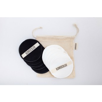 Set dischete demachiante lavabile 20 bucati + 1 saculet spalare