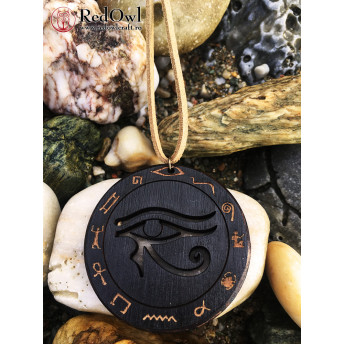 Amuleta din Lemn – The Eye of Horus, Negru
