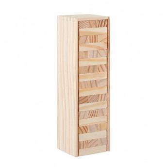 Jenga - joc din lemn 54 piese, in cutie de lemn, 27 cm