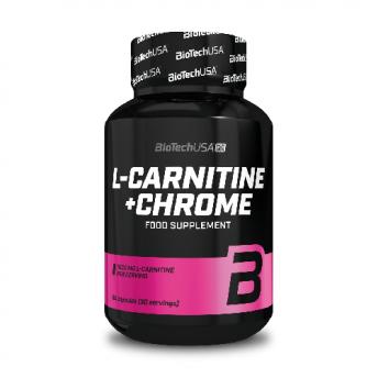 Supliment - L-Carnitine + CHROME 60 cps Biotech USA